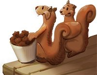 cartoon of squirrels
