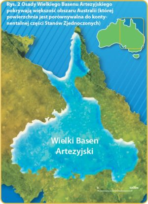 A map of eastern Australia showing the extent of the Great Artesian Basin