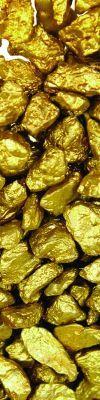 gold-coloured gravel